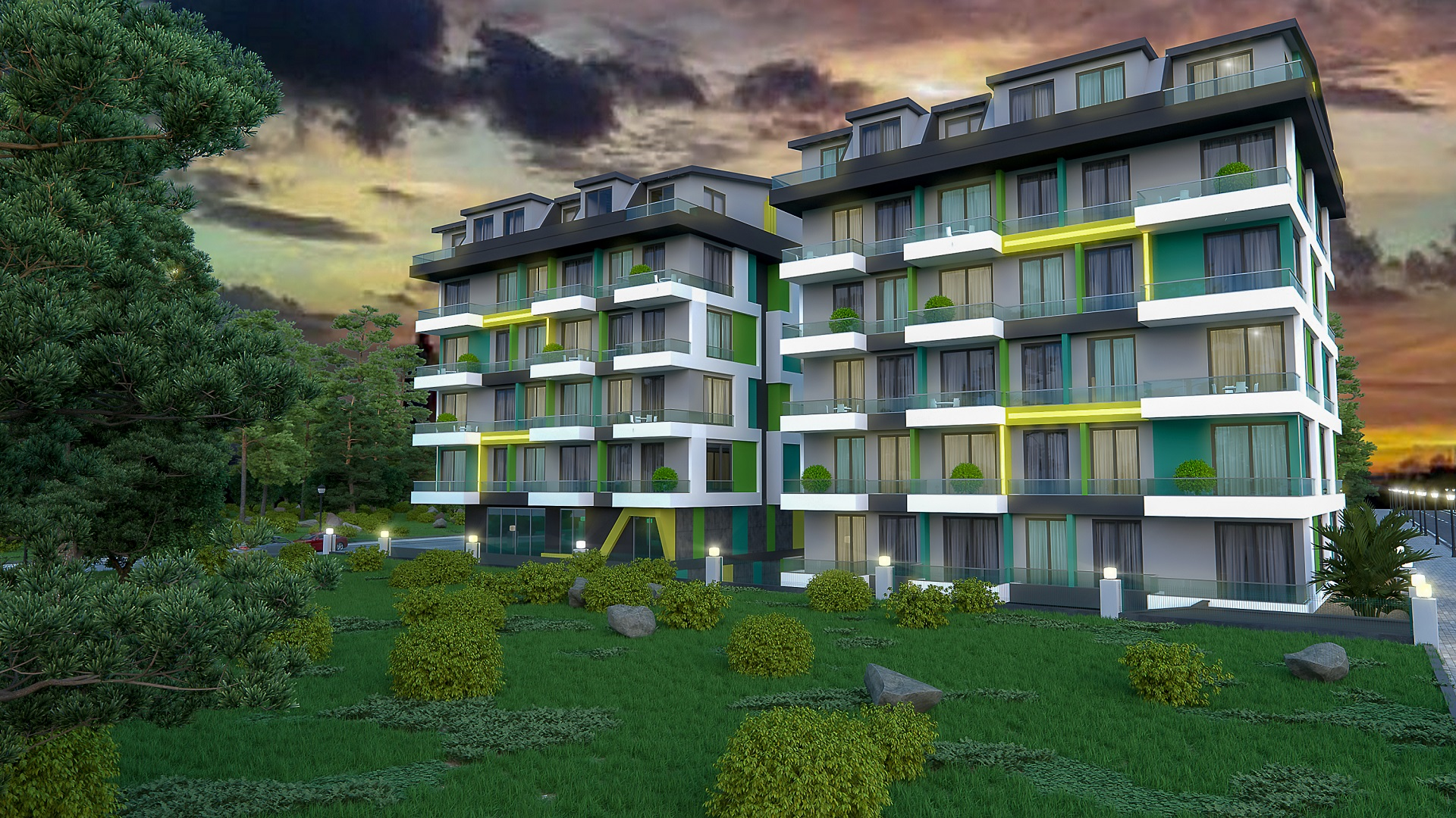 COLOURFUL APARTMENTS FOR SALE IN MAHMUTLAR, ALANYA